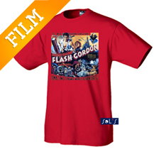 Flash Gordon mintájú póló
